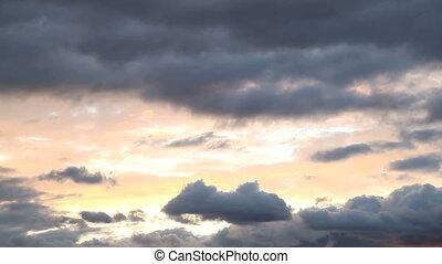 nuages, flotteur, ciel, travers