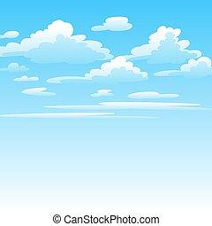 nuages, illustration, sky.