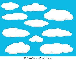 nuages, meute