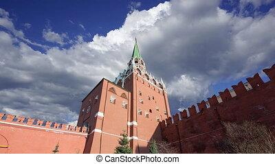 nuages, mondiale, kremlin, russia., contre, unesco, site, ...