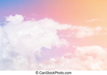 nuages, multicolore