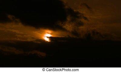 nuages, nature, soleil, défaillance, jaune, noir, temps, orange, coucher soleil, paysage