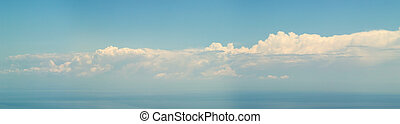 nuages, panorama, sur, -, collection, mer, 7500px