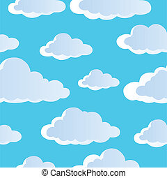 nuages, seamless, fond, 4
