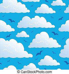 nuages, seamless, fond, 7