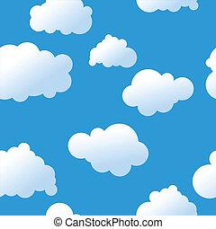 nuages, seamless, fond