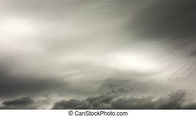 nuages, secteur, défaillance, sombre, arrière-plan., ...