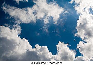 nuages, sky., ciel, nuageux, arrière-plan., fond