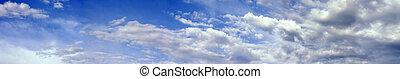 nuages, soulevant en vagues