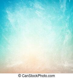 nuages, sur, a, textured, vendange, papier, fond