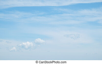 nuages, sur, ciel