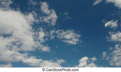nuages, sur, les, ciel