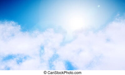 nuages, voler, par