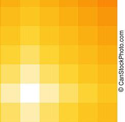 nuances, de, carré jaune, fond