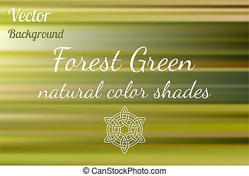 nuances, fond, vert