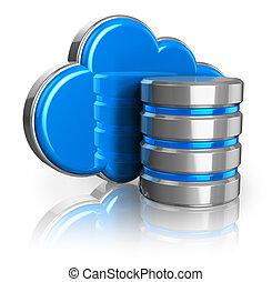 nube, almacenamiento, concepto