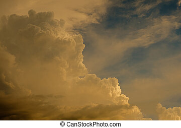 nube cielo, tramonto