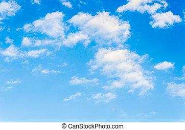 nube, con, cielo, plano de fondo