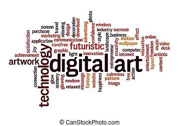 nube, concepto, arte digital