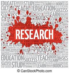 nube, concepto, palabra, empresa / negocio, investigación