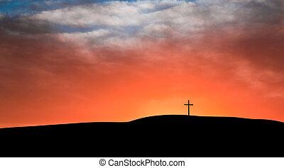 nube de cielo, cruz