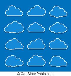 nube, iconos