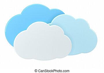 nube, informática, concepto