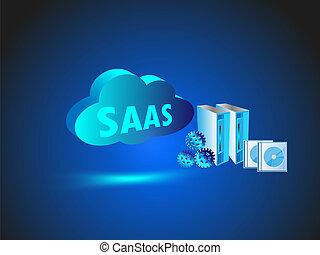 nube, informática, red, tecnología