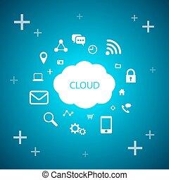 nube, informática, tecnología