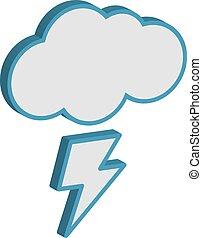 nube, lightning.