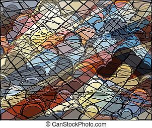nube, mosaico