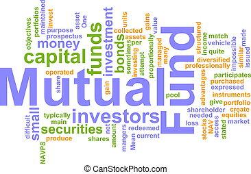 nube, palabra, fondo de inversiones