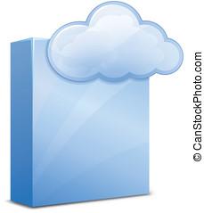 nube, servicio, software
