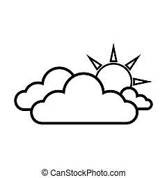 nube, sol, tiempo, cielo