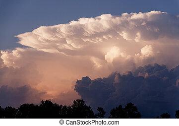 nube, yunque