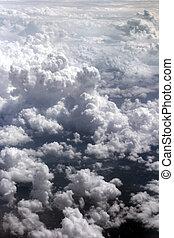 nubes, cielo, sobre