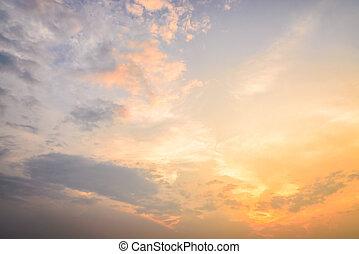nubes, crepúsculo, épocas