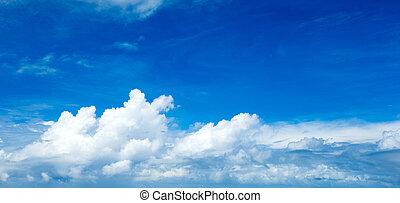 nubes, diminuto, cielo, plano de fondo, azul