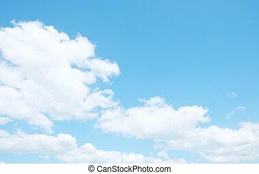 nubes, en, cielo