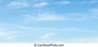 nubes, en, el, cielo azul