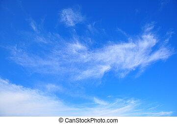 nubes, en, el, cielo
