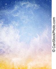 nubes, fantasía