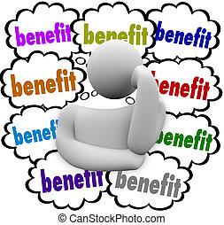 nubes, incentivos, beneficio, competitivo, pensamiento,...