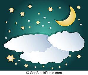 nubes, noche