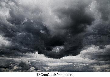 nubes oscuras, tormenta, lluvia, antes