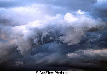 nubes, tormenta, lluvia, antes