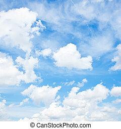 nubes, y azul, cielo