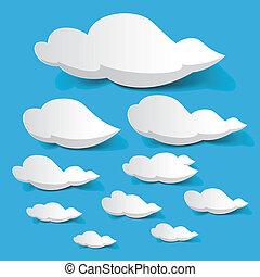nubi, bianco