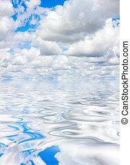 nubi, e, acqua