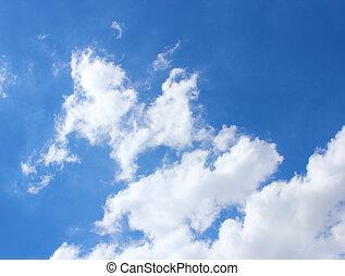nubi, in, il, cielo blu